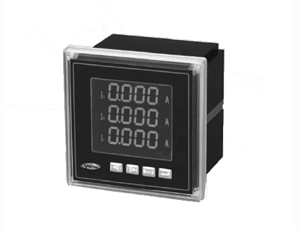 LCD three-phase power meter