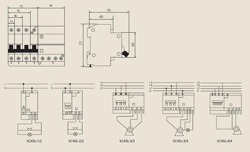 Scb8le Rcd Sc45l Earth Leakage Circuit Breaker