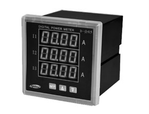 Three-phase digital display meter