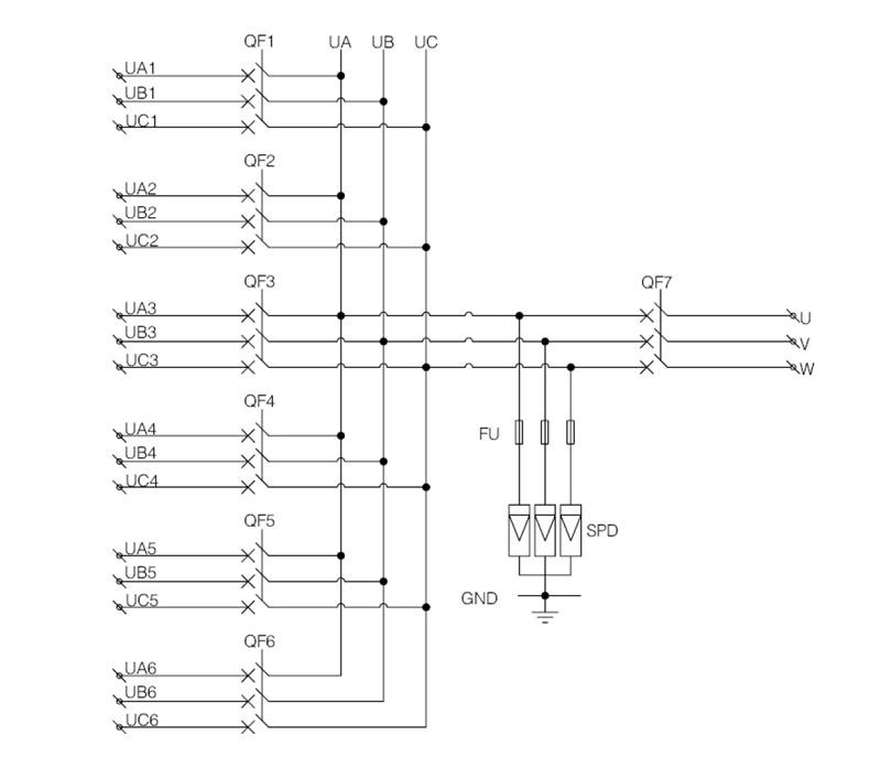 Shlx-ac6  1 Ac Pv Combiner Box