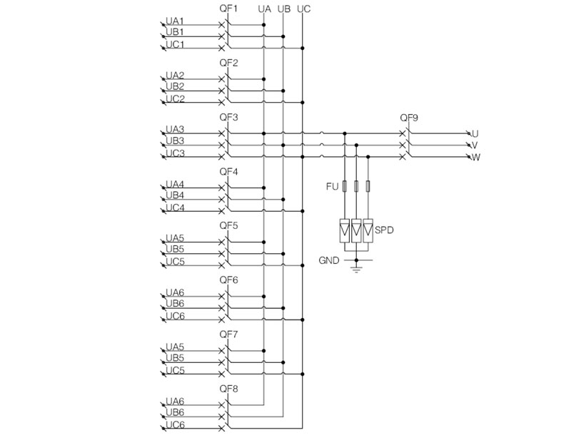 Shlx-ac8  1 Ac Pv Combiner Box